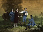 Well Known People Framed Prints - John Andre Captured Framed Print by Photo Researchers