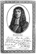 Aubrey Framed Prints - John Aubrey (1626-1697) Framed Print by Granger