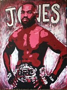 Ufc Paintings - John Bones Jones by Stephen  Hatala
