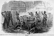 Anti-slavery Framed Prints - John Brown And Others Inside The Engine Framed Print by Everett