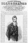 1850s Posters - John Brown. Front Page Of Frank Leslies Poster by Everett