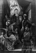 Abolition Prints - John Brown Meeting Slave Mother Print by Photo Researchers