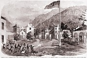 Racism Prints - John Browns Harpers Ferry Insurrection Print by Everett