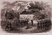 Slavery Framed Prints - John Browns Insurrection.   While Framed Print by Everett