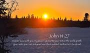 John Chapter 14 Verse 27 Print by Arlene Rhoda Nanouk