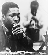 African-american Photo Framed Prints - John Coltrane 1926-1967, Master Jazz Framed Print by Everett