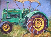 Farming Pastels Framed Prints - John Deere Framed Print by Barbara Richert