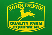 Farm Equipment Prints - John Deere Farm Equipment Sign Print by Randy Steele
