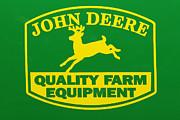 John Deere Farm Equipment Sign Print by Randy Steele
