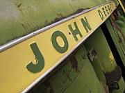 Green Yellow Posters - John Deere Poster by Jeff Ball