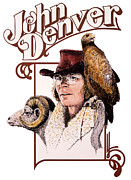 John Denver Art - John Denver Eagle by John D Benson