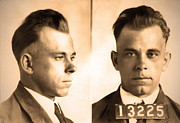 John Digital Art - John Dillinger - Public Enemy by Bill Cannon