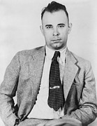 Enemies Photos - John Dillinger 1903-1934, Famous Bank by Everett