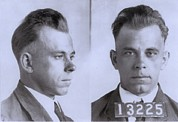 Bank Robber Framed Prints - John Dillinger 1903-1934, In Mugshot Framed Print by Everett