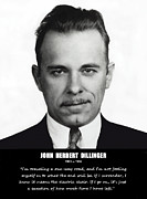 Mug Shot Prints - JOHN DILLINGER -- Public Enemy No. 1 Print by Daniel Hagerman