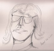 Elton John Drawings Originals - John E by Harpreet Singh