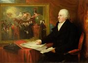 Desk Painting Prints - John Eardley Wilmot  Print by Benjamin West