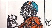 Hall Drawings Prints - John Elway 2 Print by Jeremiah Colley