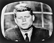 Speeches Framed Prints - John F. Kennedy 1917-1963, Addressing Framed Print by Everett