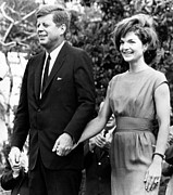 First Couple Prints - John F. Kennedy And Jacqueline Kennedy Print by Everett