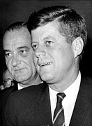 Lyndon Art - John F. Kennedy And Lyndon B. Johnson by Everett
