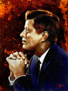 4th July Digital Art Prints - John F. Kennedy Print by Dancin Artworks