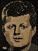 President Washington Mixed Media - John F Kennedy by Doug Powell