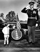 Little Boys Acrylic Prints - John F. Kennedy Jr. Look Up At Sgt Acrylic Print by Everett