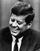 Mistake Posters - John F. Kennedy, Laughs After Stumbling Poster by Everett