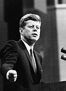 1960s Candids Art - John F. Kennedy, Urges The Senate by Everett