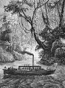 Delaware River Prints - John Fitch Steamboat Print by Granger