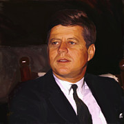 Briex Posters - John Fitzgerald Kennedy Poster by Nop Briex
