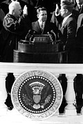 Swearing In Posters - John F.kennedy, Being Sworn Poster by Everett