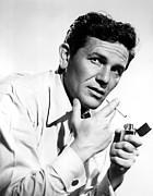 Cigarette Posters - John Garfield, With Zippo Lighter Poster by Everett