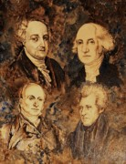 Founding Fathers Painting Metal Prints - John George John and Andrew Metal Print by Debra Keirce