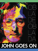 Lennon Portrait Posters - John Goes On Poster by Stephen Anderson