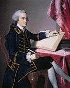 Pen Paintings - John Hancock by John Singleton Copley