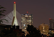 Bunker Hill Prints - John Hancock Tower and Zakim Bridge Print by Juergen Roth