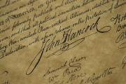 Declaration Of Independence Posters - John Hancocks Signature Poster by Todd Gipstein