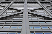 Hancock Building Digital Art Metal Prints - John Hancocks X Metal Print by Mary Machare