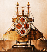 Longitude Posters - John Harrisons First Sea Clock Poster by Photo Researchers