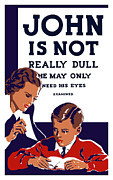 Vision Mixed Media Posters - John Is Not Really Dull Poster by War Is Hell Store