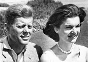 Cape Kennedy Art - John Kennedy And Jacqueline Kennedy by Everett