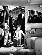 Little Boys Acrylic Prints - John Kennedy Jr. Enters Acrylic Print by Everett