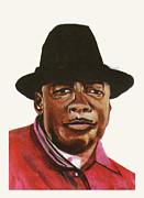 John Lee Hooker Print by Emmanuel Baliyanga