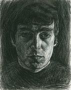 The Beatles John Lennon Drawings - John Lennon 1 by Michael Morgan