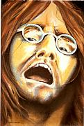 Rock N Roll Drawings Originals - John Lennon 1969 by Mark Cawood