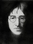 Beatles Drawings - John Lennon 2 by Glenn Daniels