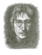 John Lennon  Drawings - John Lennon by Daniel Toney
