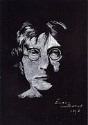 Beatles Pastels Metal Prints - John Lennon Metal Print by Eamon Gilbert